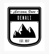 Denali National Park Badge Design Photographic Print