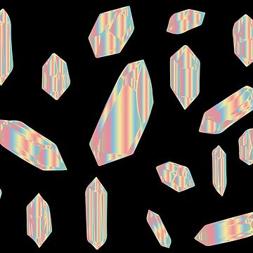 Rainbow Hologram Crystals by thepinecones