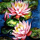 Pink Water Lilies by Harsh  Malik