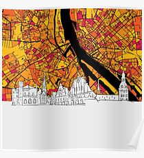 Riga Colorful Map Artprint Poster