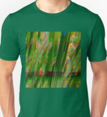 the grass is always glitchier on the other side Unisex T-Shirt