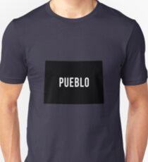 Pueblo, Colorado Silhouette Unisex T-Shirt