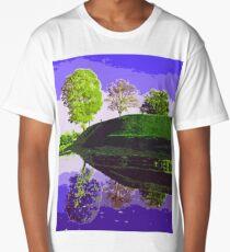 Tree Reflections in Purple Long T-Shirt