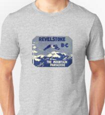 Revelstoke BC Ski Mountain Paradise Vintage Travel Decal Unisex T-Shirt