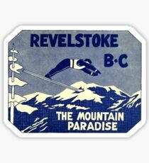 Revelstoke BC Ski Mountain Paradise Vintage Travel Decal Sticker