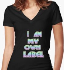I am my own label Women's Fitted V-Neck T-Shirt