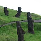 Four Moai Statues, Easter Island by Maggie Hegarty
