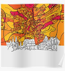 Luxembourg Skyline Map Poster