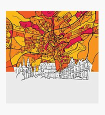 Luxembourg Skyline Map Photographic Print