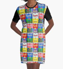 Campbells' Tomato Soup Print Graphic T-Shirt Dress