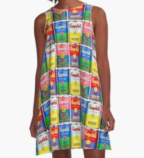 Campbells' Tomato Soup Print A-Line Dress