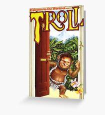 TROLL VINTAGE VHS ART Greeting Card
