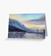 """""""Evening Falls on Lake Windermere"""" Greeting Card"""