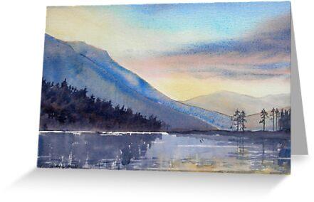 """Evening Falls on Lake Windermere"" by Glenn  Marshall"