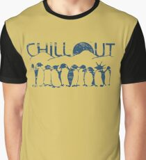 Penguin Chill Out Graphic T-Shirt