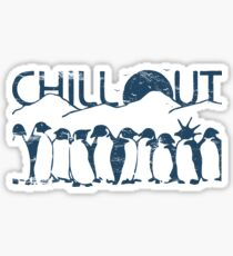 Penguin Chill Out Sticker