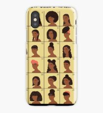 A Black Girls Hair Guide iPhone Case