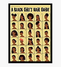 A Black Girls Hair Guide Photographic Print