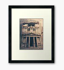 Petra Treasury Building Photograph Framed Print