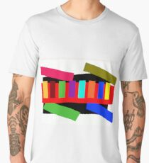 Multi-color Rectangle Design Men's Premium T-Shirt