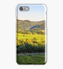 agricultural fields on hills sunrise iPhone Case/Skin