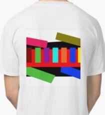 Multi-color Rectangle Design Classic T-Shirt