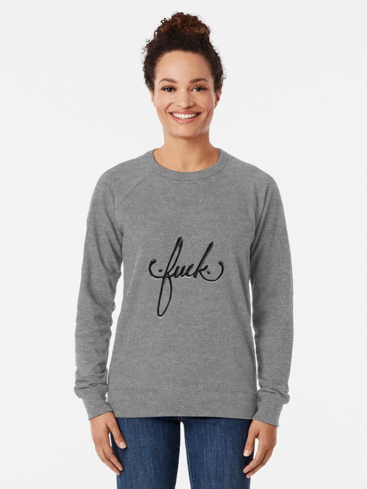 Alternate view of Cursive Curse Lightweight Sweatshirt
