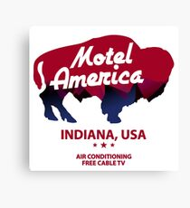 america motel Canvas Print