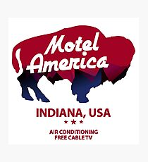 america motel Photographic Print