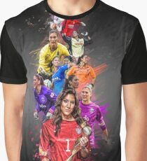 Hope Solo (From University of Washington to Seattle Reign + National Team) Graphic T-Shirt