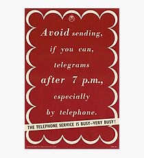 The Telephone Service is Busy - Very Busy! Photographic Print