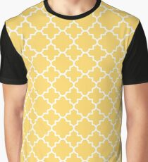 Quatrefoil pattern, white on yellow Graphic T-Shirt