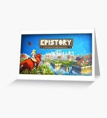 Epistory Typing Chronicles Greeting Card