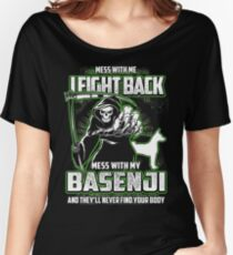 Basenji Don't mess with my Dog funny gift t-shirts Women's Relaxed Fit T-Shirt
