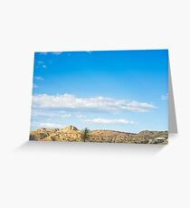 View to the mountain and sky Greeting Card
