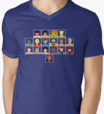 Select Your Character - Super Street Fighter 2 Turbo Mens V-Neck T-Shirt