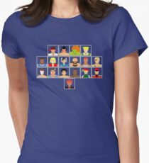 Select Your Character - Super Street Fighter 2 Turbo Womens Fitted T-Shirt