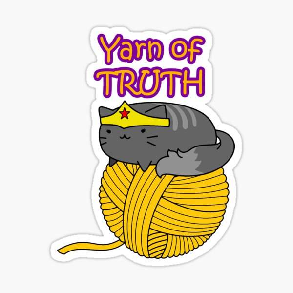 yarn of truth Sticker