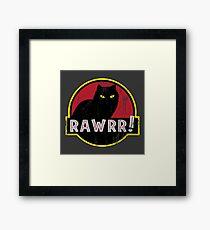Cat Park Rawrr Framed Print