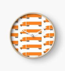 Orange Big Rig Clock