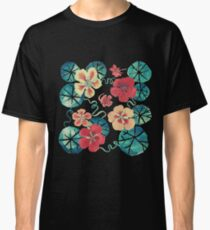 Watercolor Nasturtiums: In the Still of the Night Classic T-Shirt