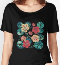 Watercolor Nasturtiums: In the Still of the Night Women's Relaxed Fit T-Shirt