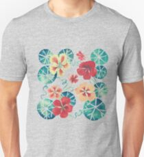 Watercolor Nasturtiums: In the Still of the Night Unisex T-Shirt