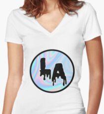 LA  Women's Fitted V-Neck T-Shirt