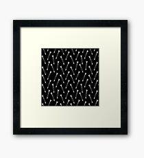 Lone Arrow Black Framed Print