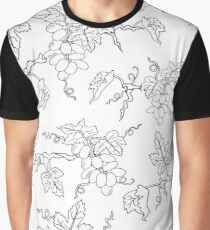Black and white pattern with grapevine Graphic T-Shirt