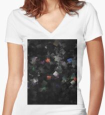 raw abstract Women's Fitted V-Neck T-Shirt
