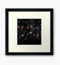 raw abstract Framed Print