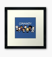 Community Snoopy Style Framed Print