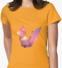 Geometric Squirrel  Womens Fitted T-Shirt